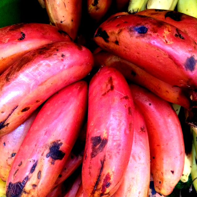 how to tell when red bananas are ripe